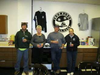 Our club officers from left to right : Gordy Robinson , Bonnie Weatherholt , Buddy Pangrazzi , Sherry Pangrazzi.